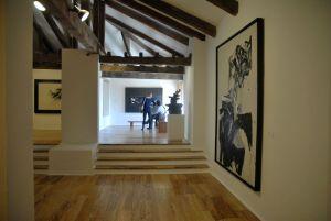 Interior del Museo de Arte Abstracto Español de Cuenca, España.