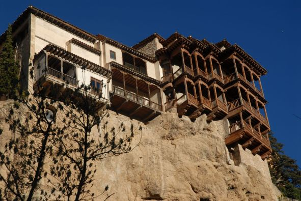 Casas Colgadas, donde se encuentra el Museo de Arte Abstracto Español, Cuenca.