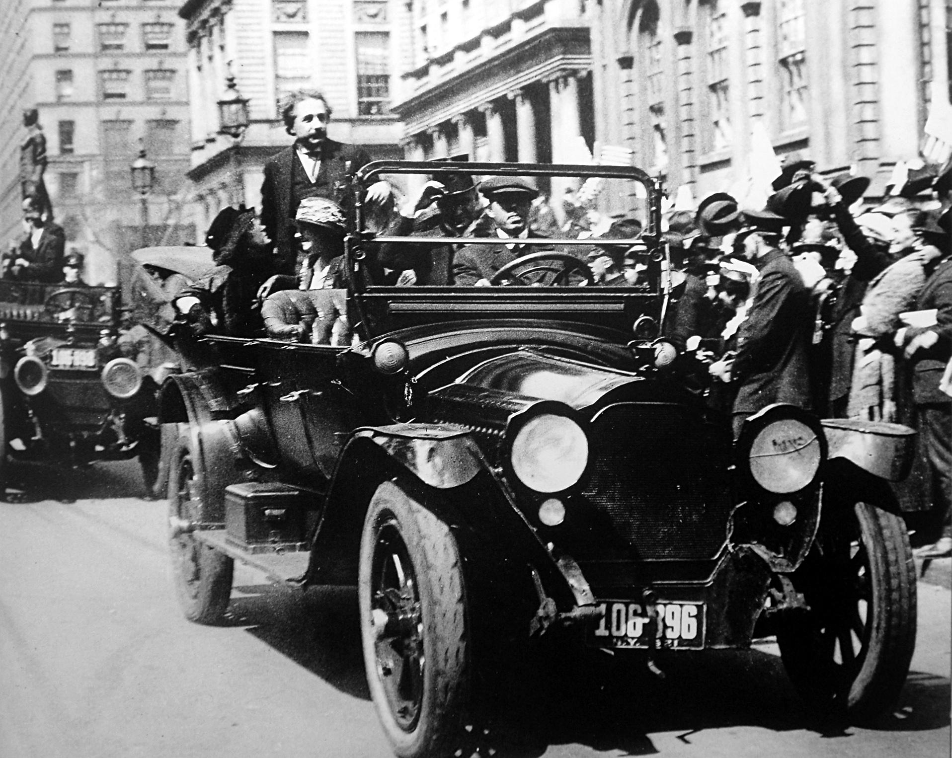 Albert Einstein en Nueva York, 1921.