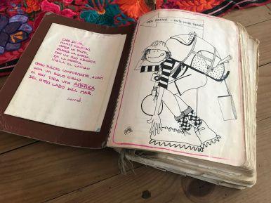 Mi cuaderno de bitácora durante el viaje que hice por Latinoamérica en 1993.