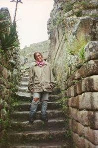 Llegando a Machu Picchu desde el Camino del Inca. Perú. Enero 1994.