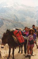 Estación Loma Redonda del teleférico, camino a Los Nevados, Mérida, Venezuela. Marzo de 1993.