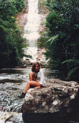 Cascada en la Gran Sabana venezolana. Febrero de 1993.