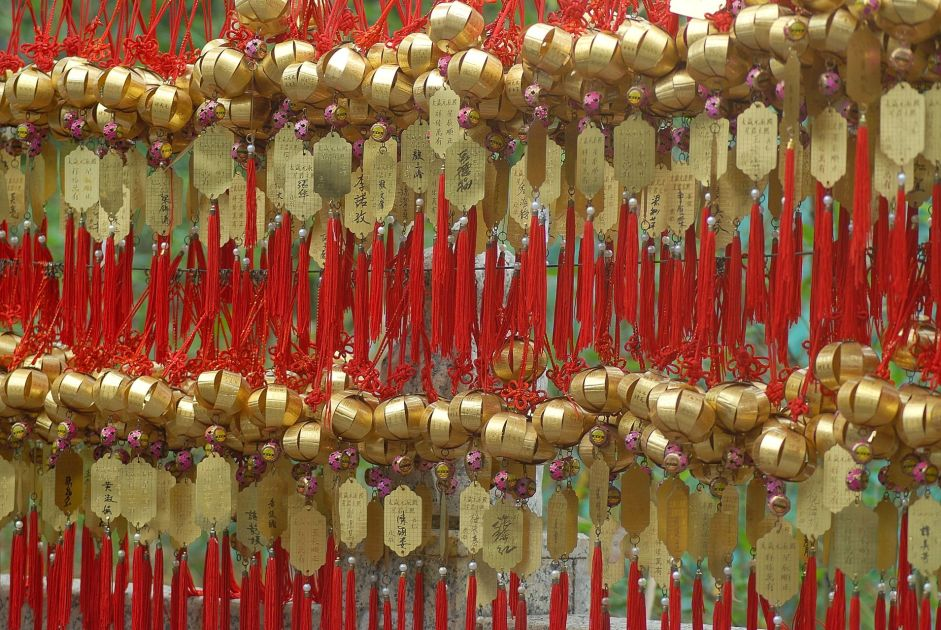 Deseos en el templo Sik Sik Yuen Wong Tai Sin de Hong Kong.