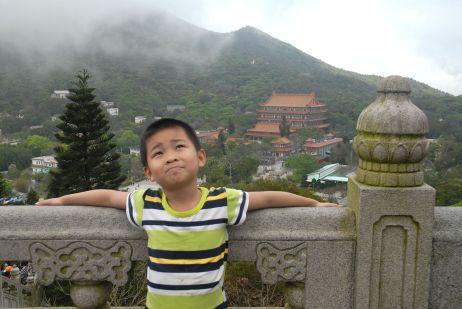 El monasterio Po Lin, en Lantau, Hong Kong.