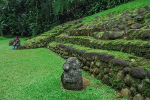 Ruinas mayas de Takalik Abaj, Guatemala.