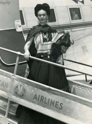 Frida llegando a NY 1938