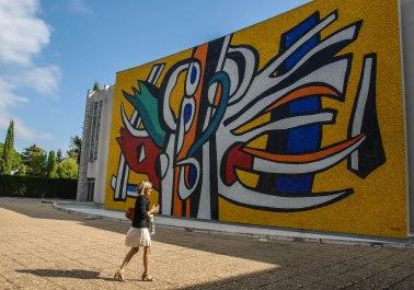 Murales en el Museo Nacional Fernand Léger, Biot, Francia.