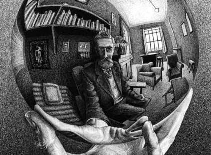 Autorretrato de Maurits Escher.