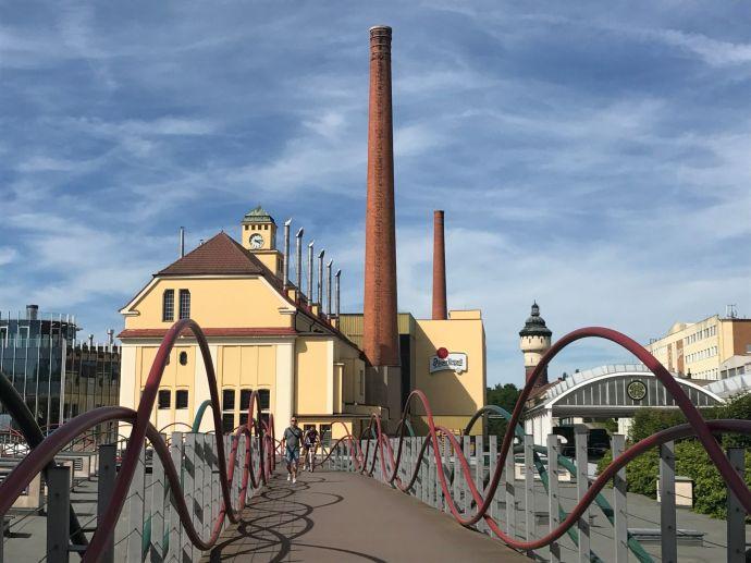 Fábrica de cerveza Pilsner Urquell, Pilsen, Chequia.