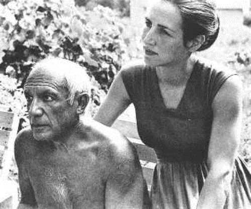 Pablo Picasso y Françoise Gilot.