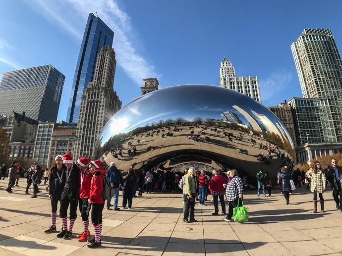 Cloud Gate o El Frijol de Millennium Park, Chicago.