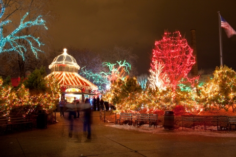 Lincoln Park ZooLights, Chicago. Foto: Cortesía de Choose Chicago © Todd Rosenberg Photography 2009