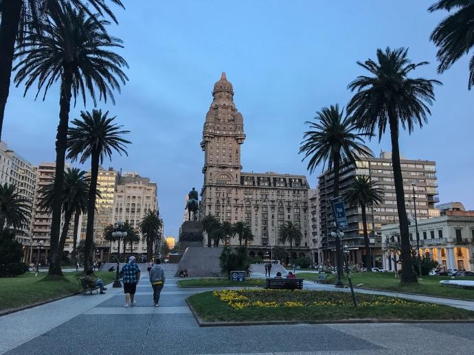 Palacio Salvo de Montevideo, Uruguay.