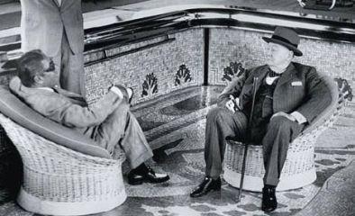 Aristóteles Onassis y Winston Churchill.