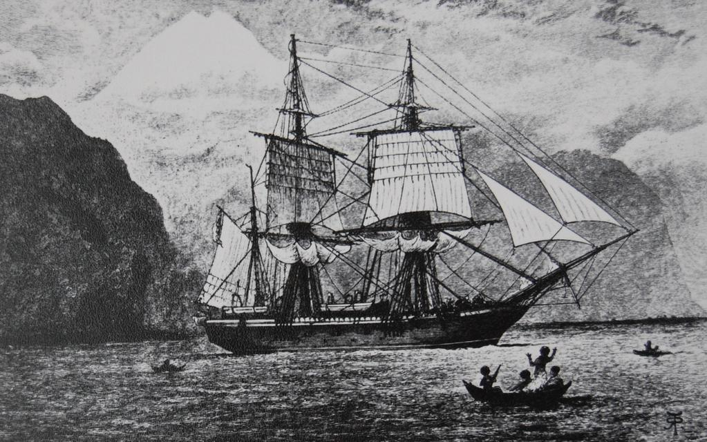 El bergantín Beagle, a bordo del cual Charles Darwin dio la vuelta al mundo.