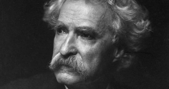 Mark Twain, escritor estadounidense.