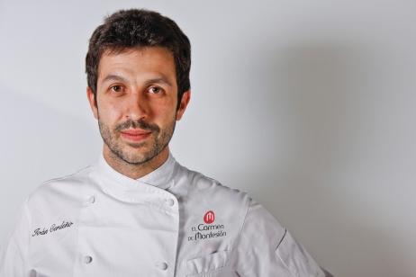 Chef Iván Cerdeño, del restaurante El Carmen de Montesión, en Toledo, España.