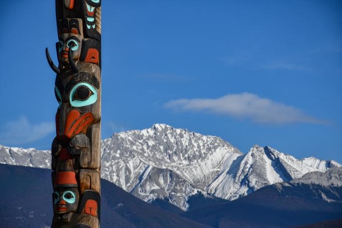 Tótem de Jasper, Alberta, Canadá.