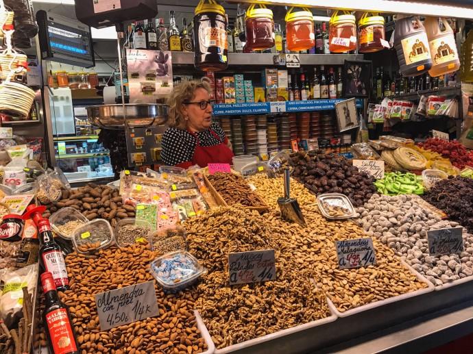 Mercado de Atarazanas, Málaga, España.