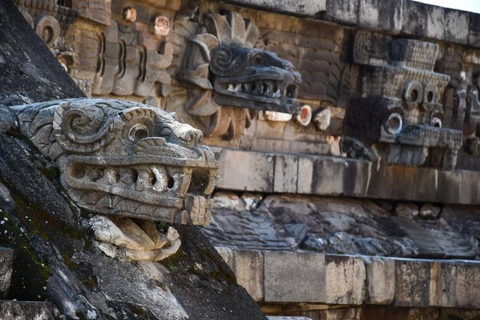 Templo de Quetzalcóatl, Teotihuacán, México.